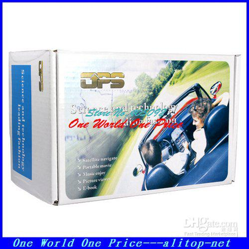 4.3 Portable GPS Receiver Navigation with 4GB memorry and free map car gps navigation system