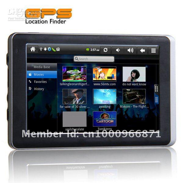 FREE SHIPPING 5Inch Android 2.3 OS 8GB 256 RAM WIFI FM Touch Screen Car GPS Navigation