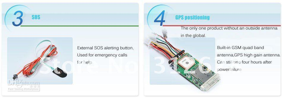 Wholesale GPS TRACKING SYSTEM GT06 GPS GPRS GSM ,car GPS tracker
