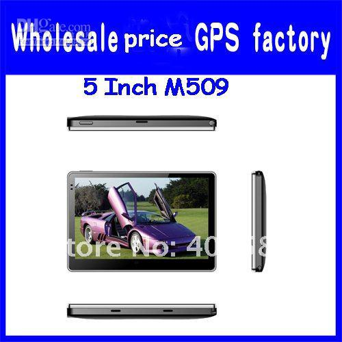 5 inch GPS Navigation without bluetooth with built-in 4GB memory,MP3,MP4,Map free ,cheap Mediatek3351