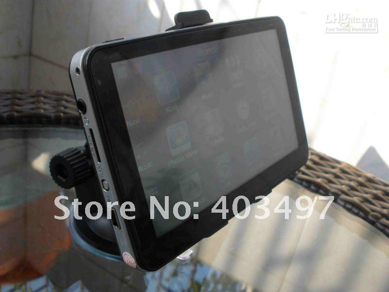 800x480 5 inch Car GPS Navigator without Bluetooth &AV-IN 4GB load 3D Map DDR 128M