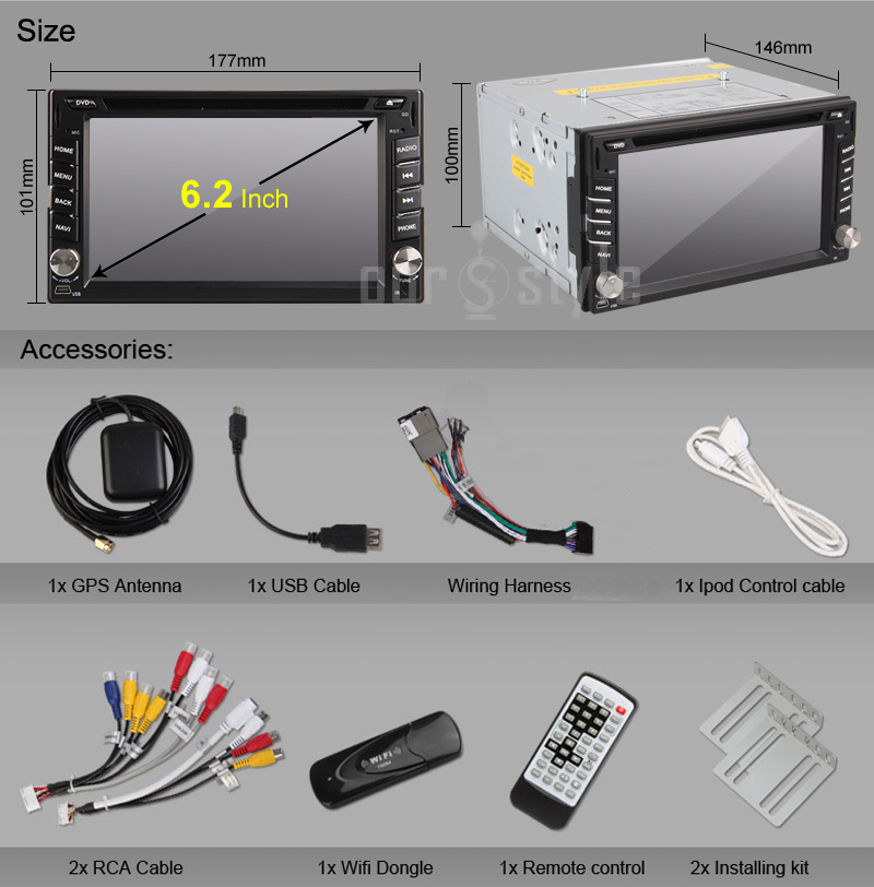 Android Car DVD Stereo PC Radio GPS